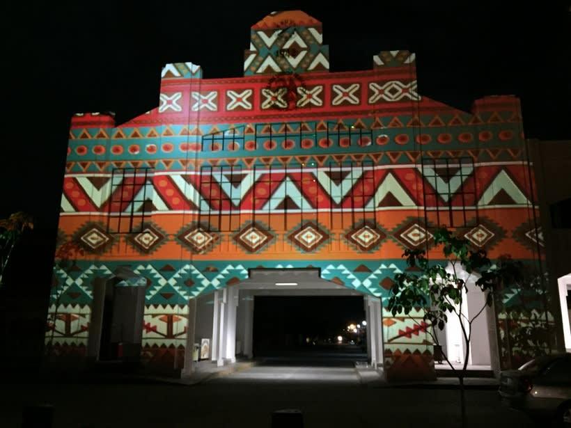 """Video mapping """"Fiesta de todos los pueblos"""", Ixtepec, Oaxaca 2"""