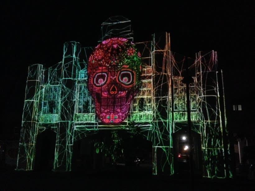 """Video mapping """"Fiesta de todos los pueblos"""", Ixtepec, Oaxaca 5"""