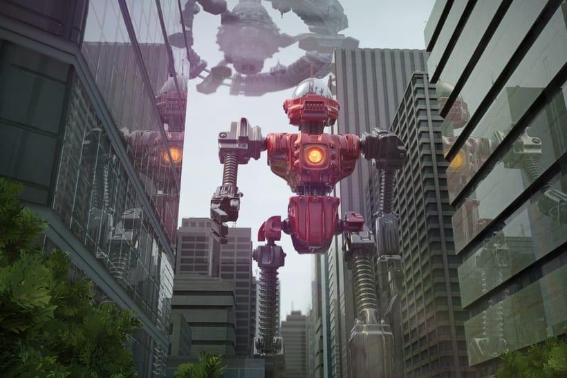 Un robot y un alienigena conductor 6