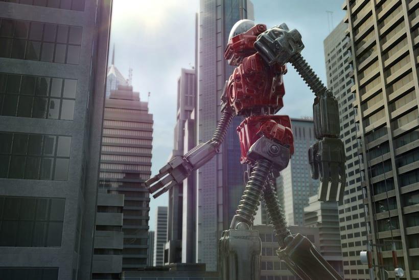 Un robot y un alienigena conductor 7