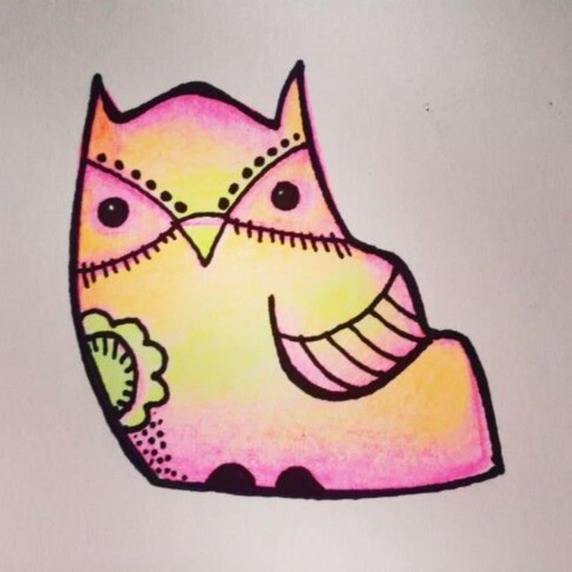 Ilustración de personajes - Buhos - BY VA 0