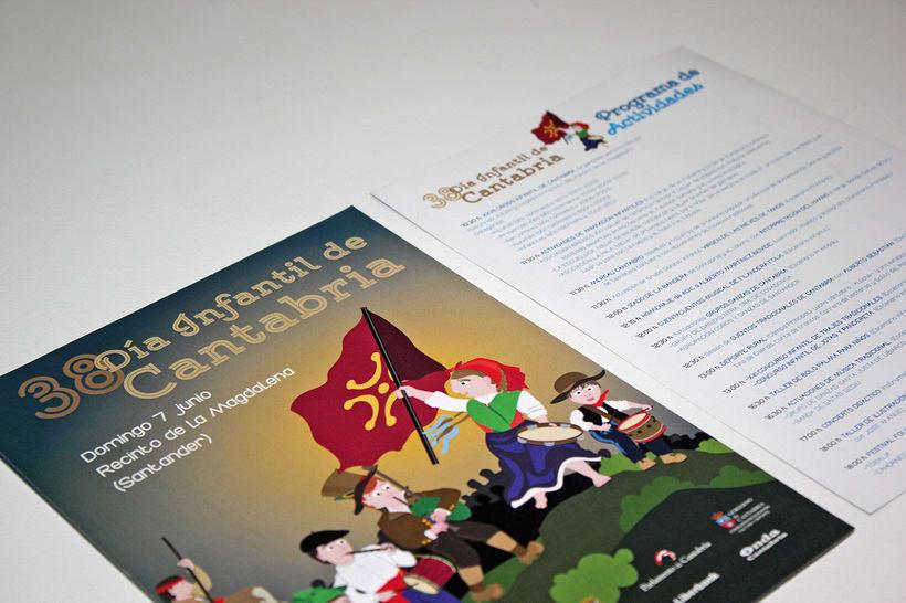 Cartel Día Infantil de Cantabria - 2015 2
