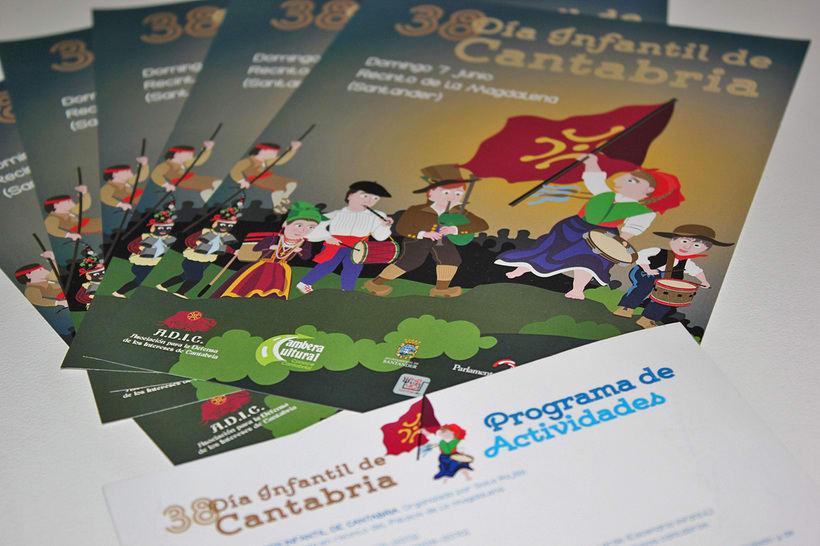 Cartel Día Infantil de Cantabria - 2015 3