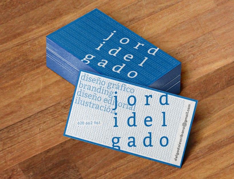 Tarjeta visita Jordi Delgado 1