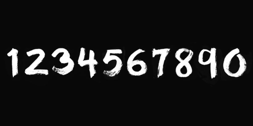 """""""35mm"""" Font Numbers 1"""