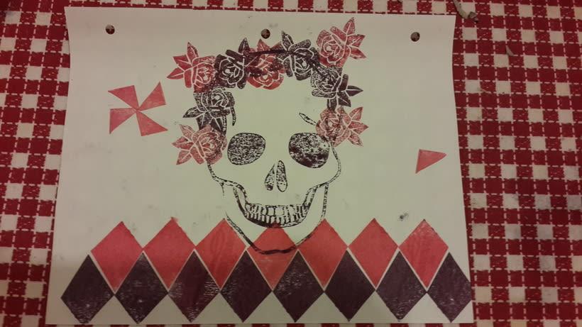 Mi Proyecto del curso Carvado de sellos y técnicas de estampación -1