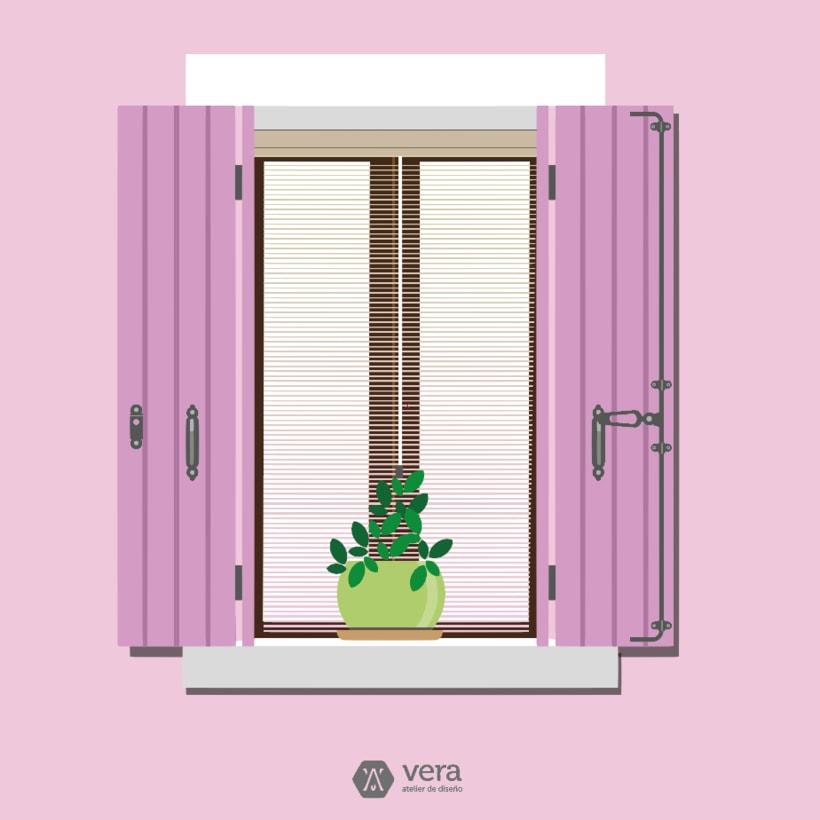 Ilustraciones realizadas inspiradas en ventanas para Vera Atelier 0
