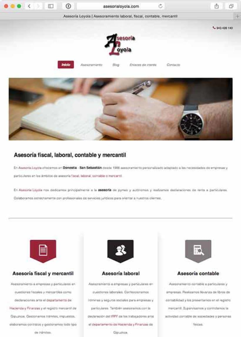 Desarrollo web para Asesoría Loyola 0