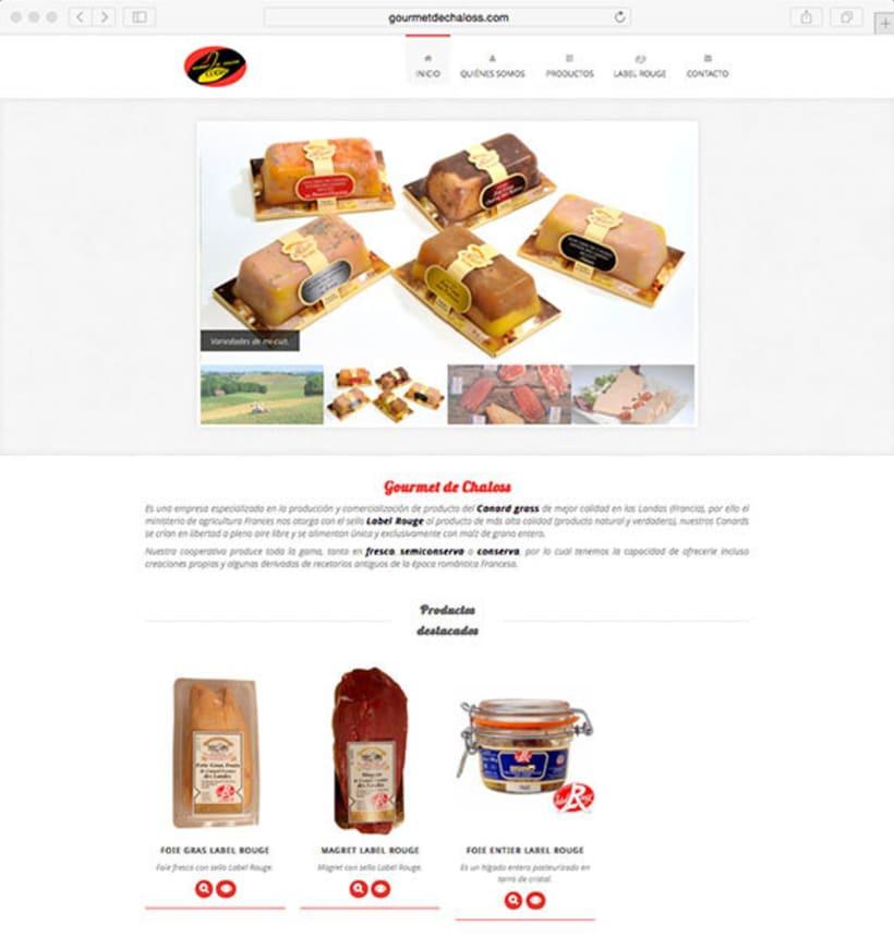 Desarrollo web para Gourmet de Chaloss 0