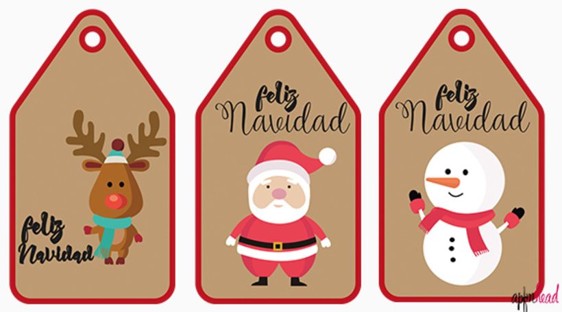 Christmas labels 4