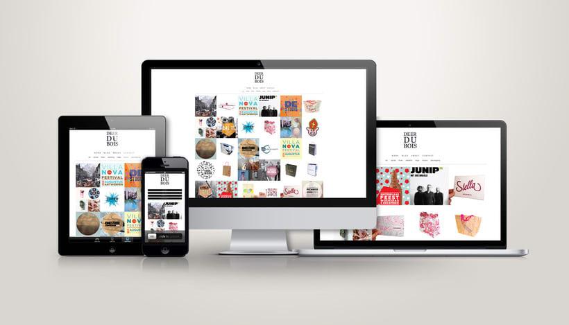 Portfolio Website | Graphic designer Deer du Bois -1