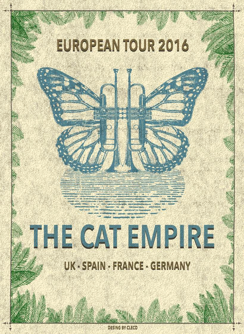 Mi Proyecto del curso Cartelismo ilustrado- The Cat Empire 0