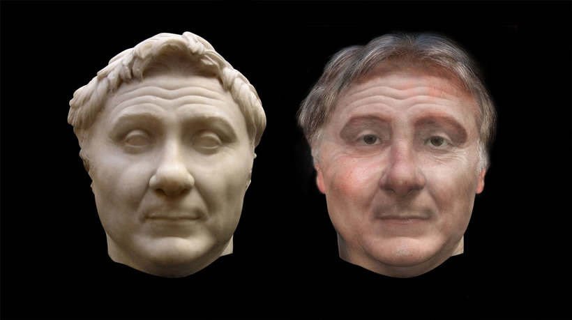 Reconstrucción rostro de Pompeyo el Grande -1