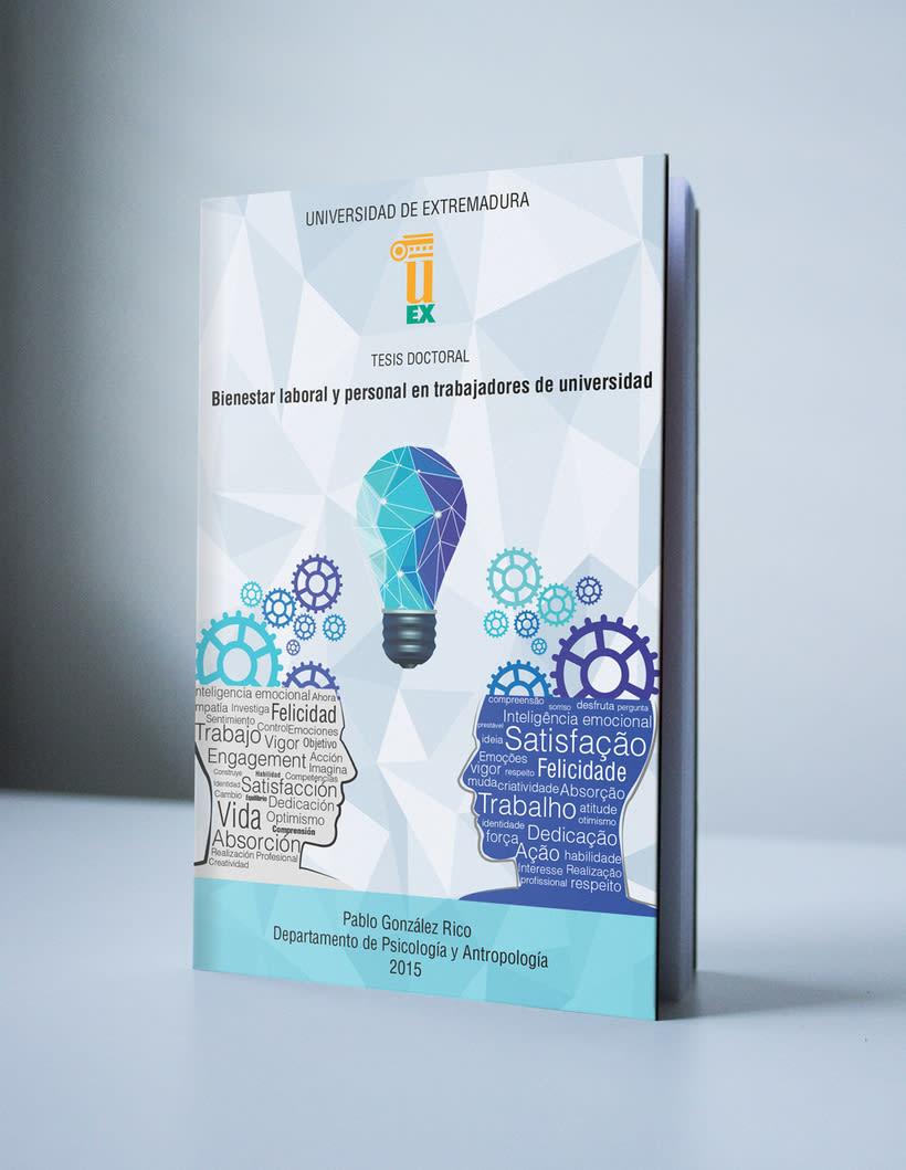 """Diseño portada tesis: """"Bienestar laboral y personal en trabajadores de universidad"""" -1"""