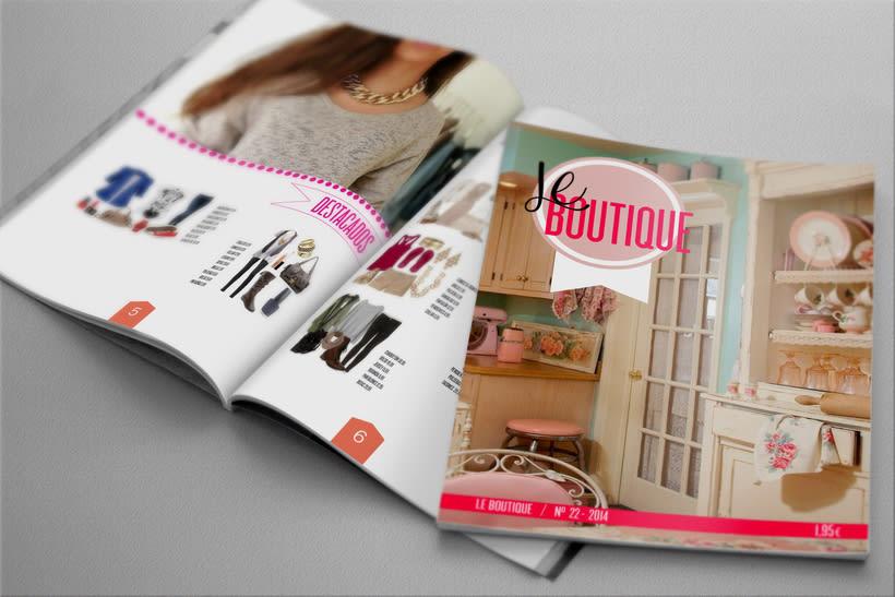 Diseño revista. LE BOUTIQUE 3
