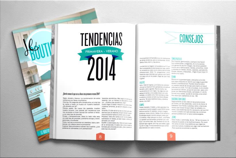 Diseño revista. LE BOUTIQUE 1
