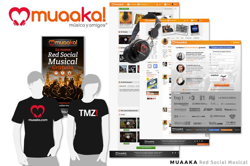 MUAAKA.COM| Red Social Musical - Dirección Creativa / Arte / Project Manager - Diseño Web - UX / UI -1