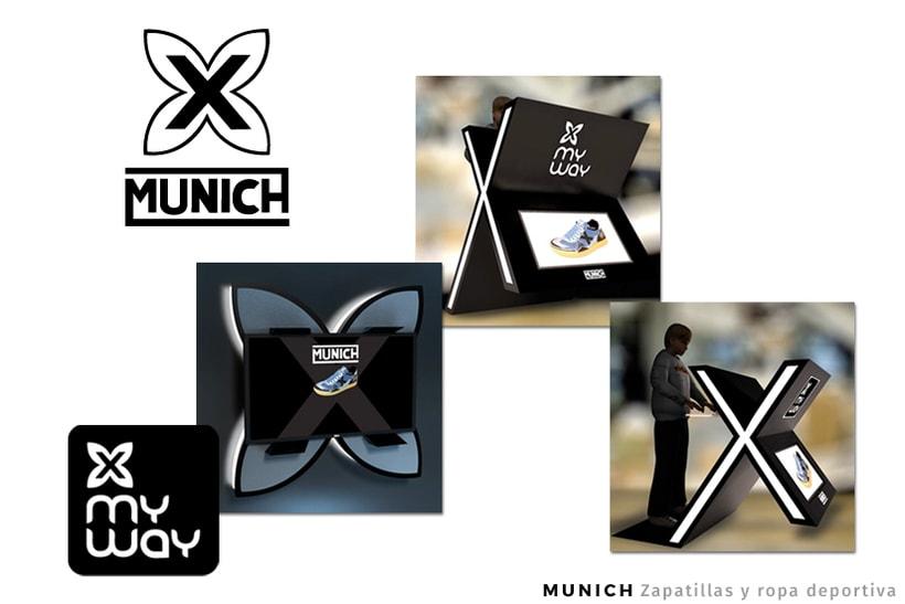 MUNICH - Zapatillas y ropa deportiva - Expositores Interactivos - Digital Signage -1
