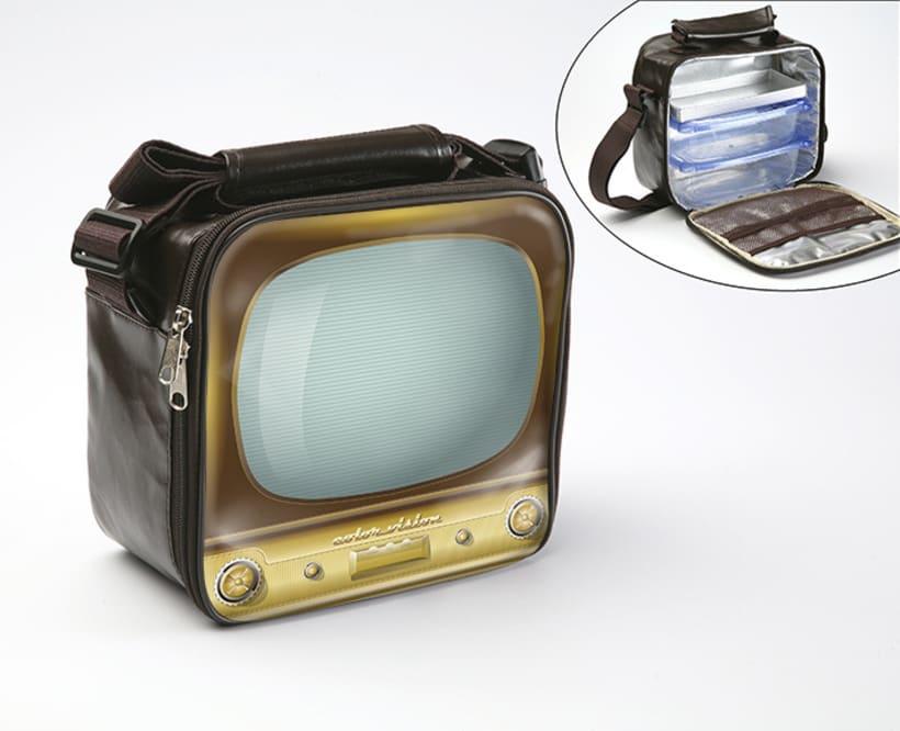 Vintage TV, ilustración vectorial -1