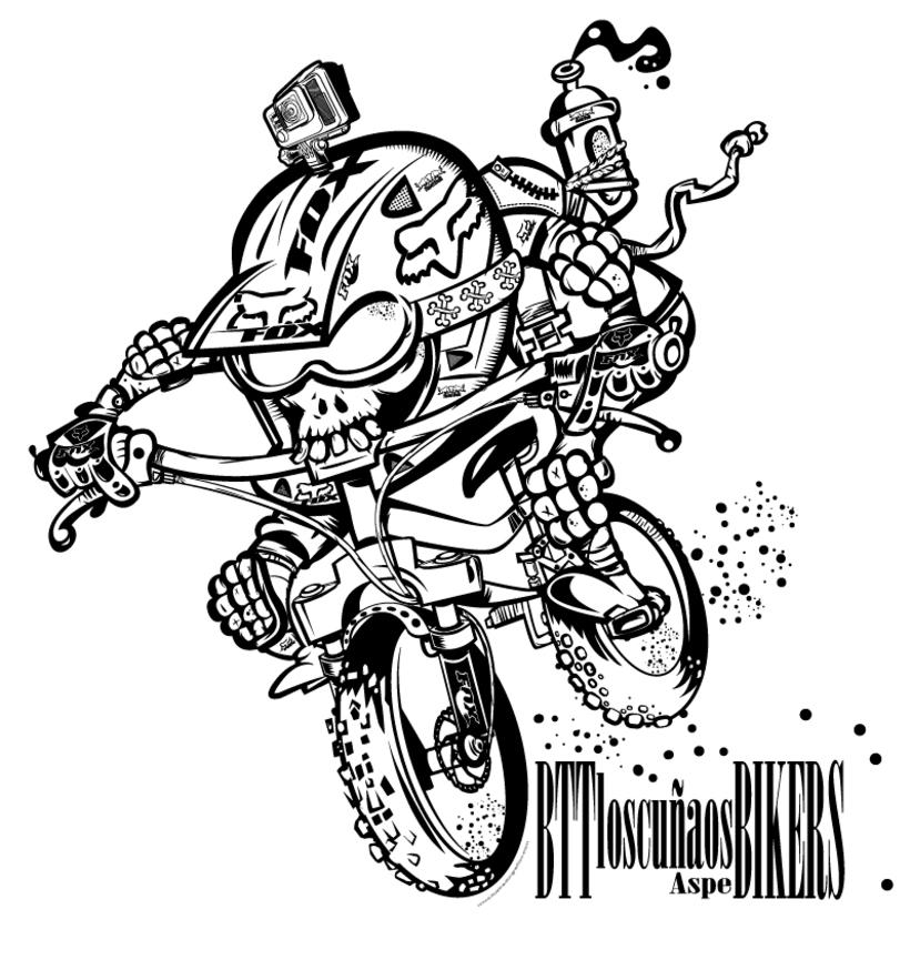Los  Cuñaos  ( Logo Bikers BTT ) 1