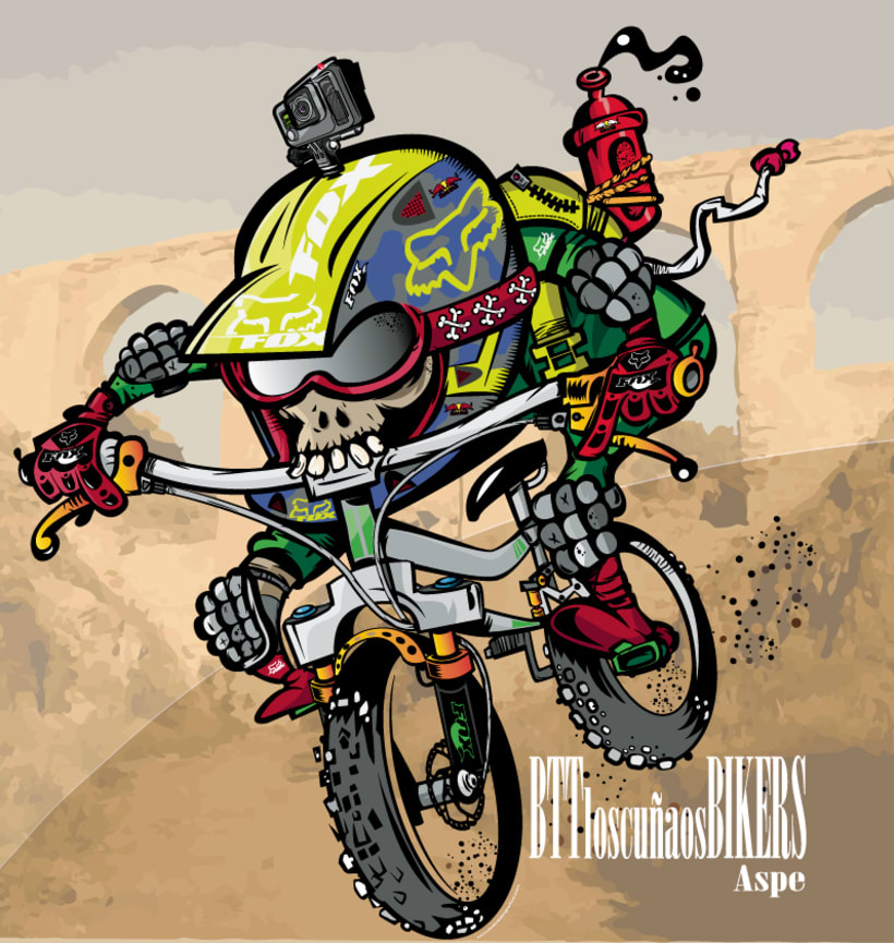 Los  Cuñaos  ( Logo Bikers BTT ) 0