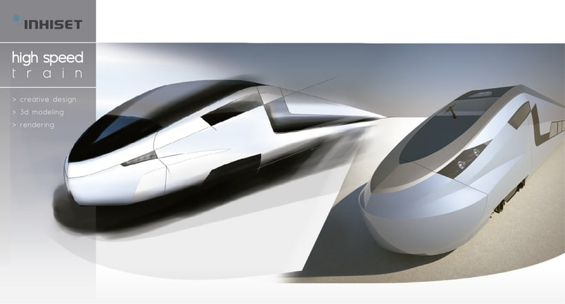 Modeling - Hogh speed train -1