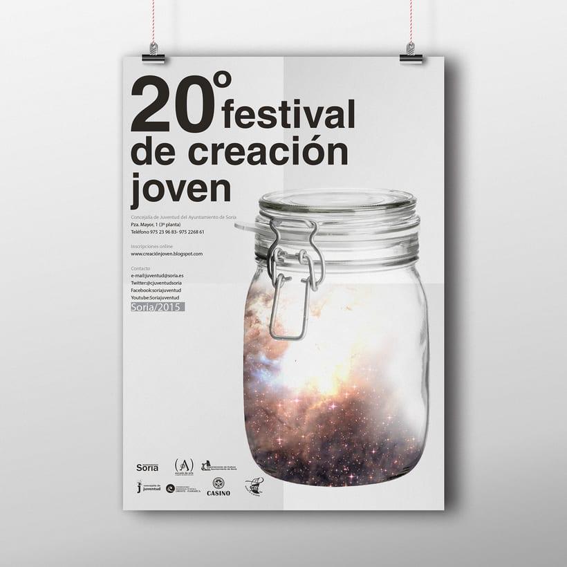 Diseño cartel 20º Festival Creación Joven -1