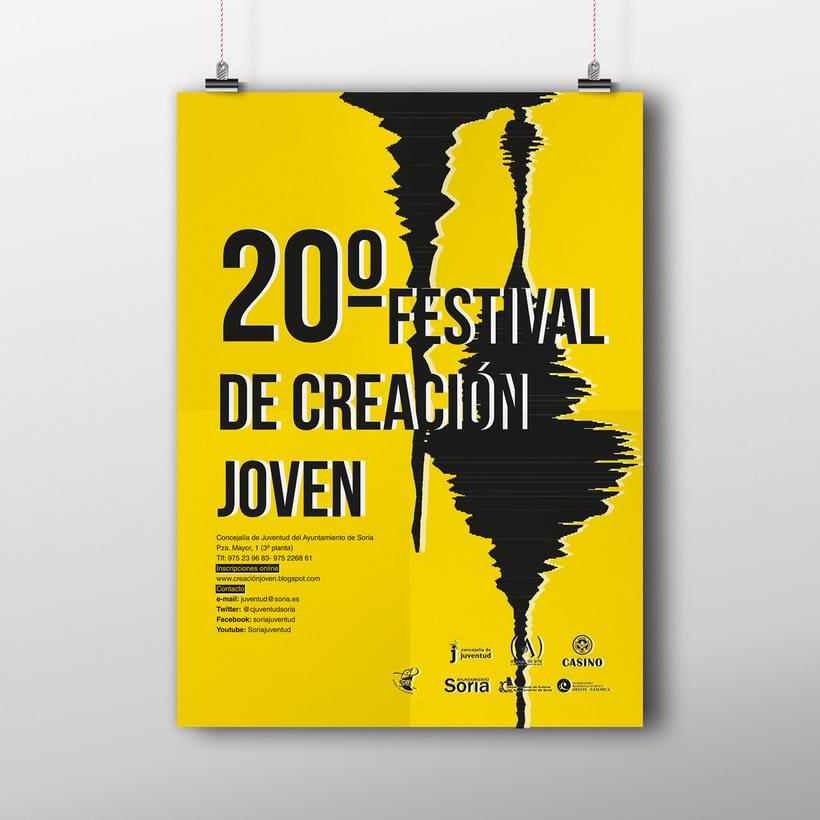 Diseño cartel 20º Festival Creación Joven 0