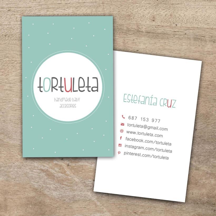 Logotipo y tarjeta de visita Tortuleta -1