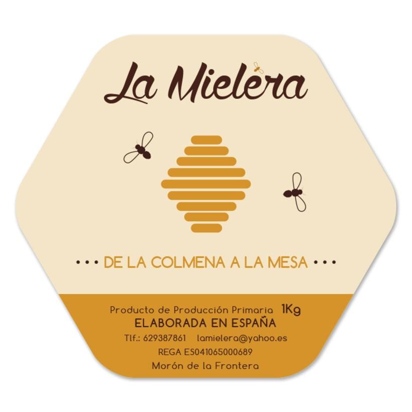 Logosímbolo y etiqueta La Mielera -1