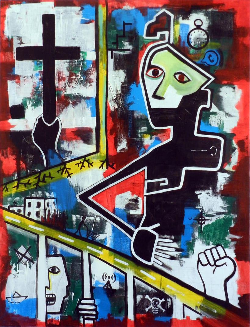 Pintura sobre lienzo 1