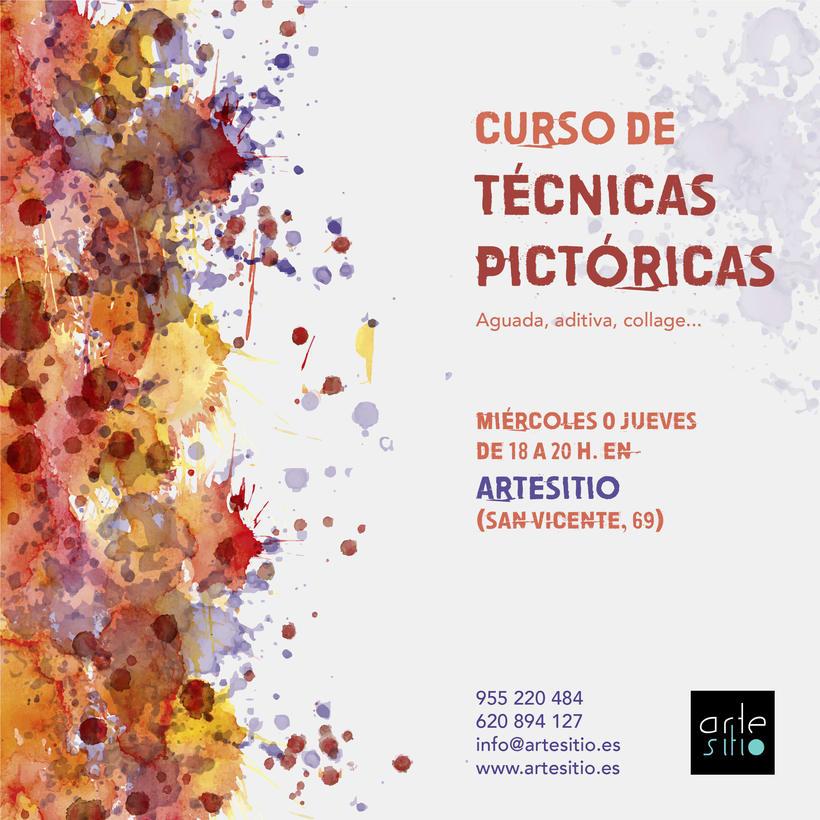 Cartel Técnicas Pictóricas -1