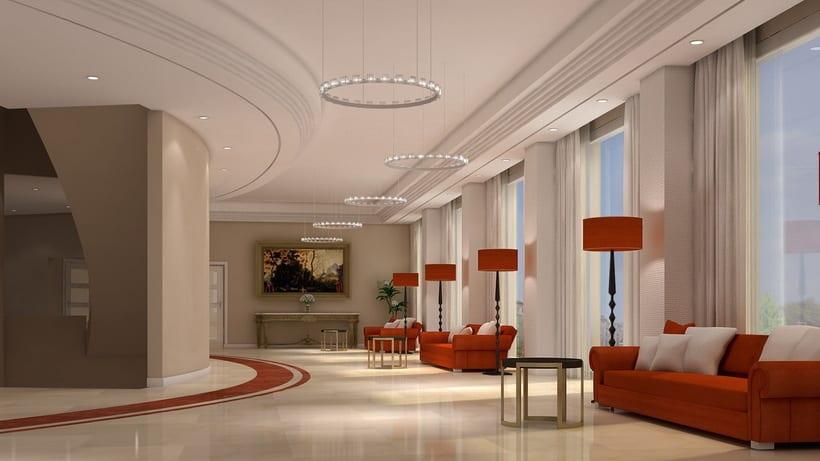 Renders Interiores Hotel Bahía. Santander 1