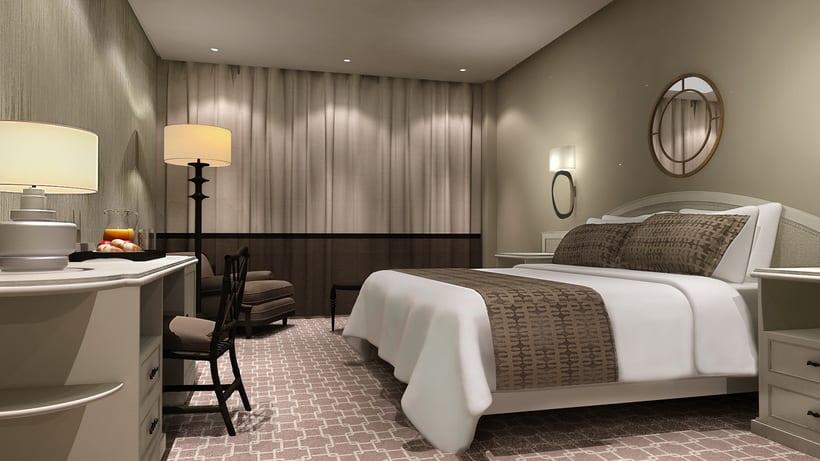 Renders Interiores Hotel Bahía. Santander 3
