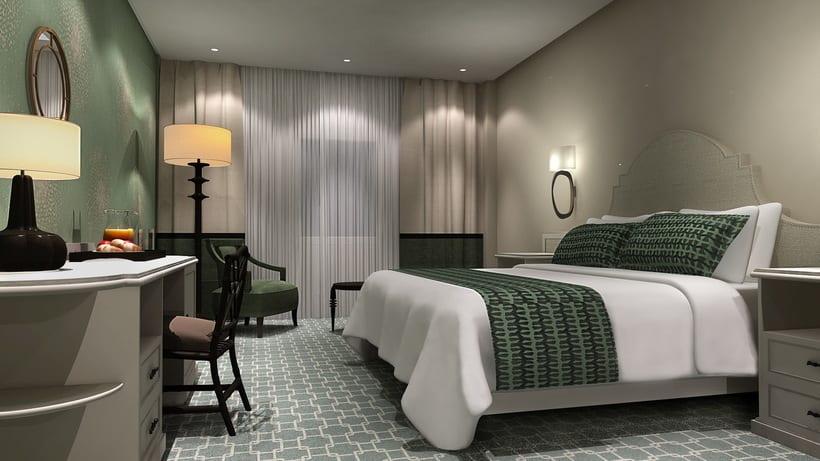 Renders Interiores Hotel Bahía. Santander 6