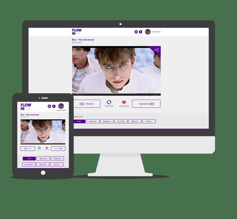 Web design Flowin.tv 0