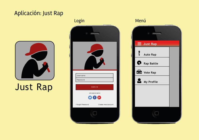 Diseño de interfaz - Just Rap -1