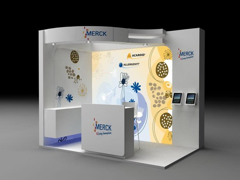 Diseño de Stand Merck Bio Spain, Alergias y Hospitality  7