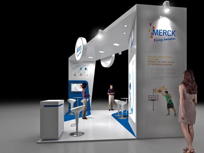 Diseño de Stand Merck Bio Spain, Alergias y Hospitality  0