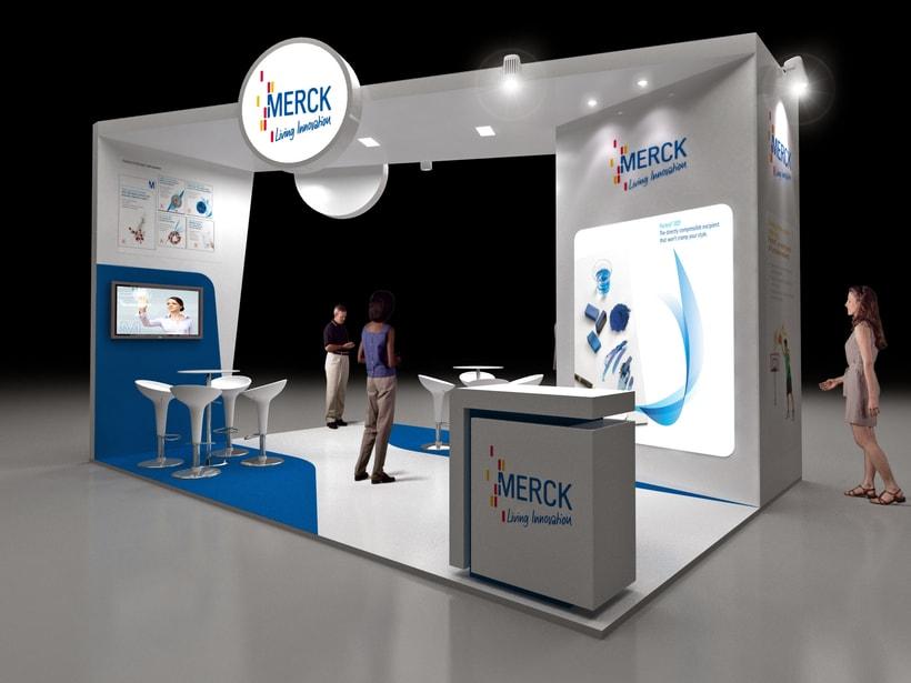 Diseño de Stand Merck Bio Spain, Alergias y Hospitality  1