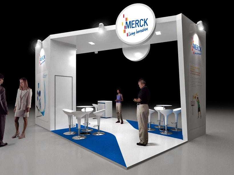 Diseño de Stand Merck Bio Spain, Alergias y Hospitality  2