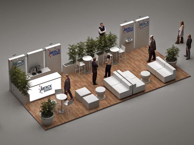Diseño de Stand Merck Bio Spain, Alergias y Hospitality  4