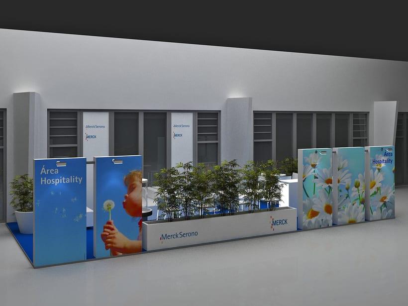 Diseño de Stand Merck Bio Spain, Alergias y Hospitality  5