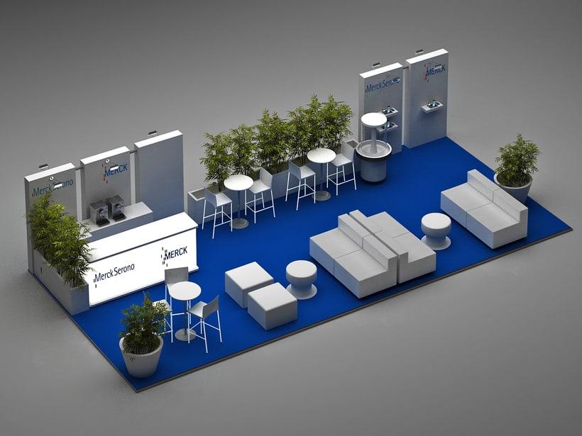 Diseño de Stand Merck Bio Spain, Alergias y Hospitality  6
