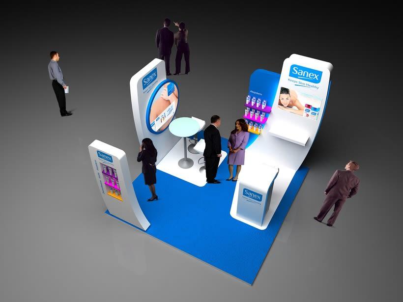 Corner Exposición de Producto. Sanex Colgate 1