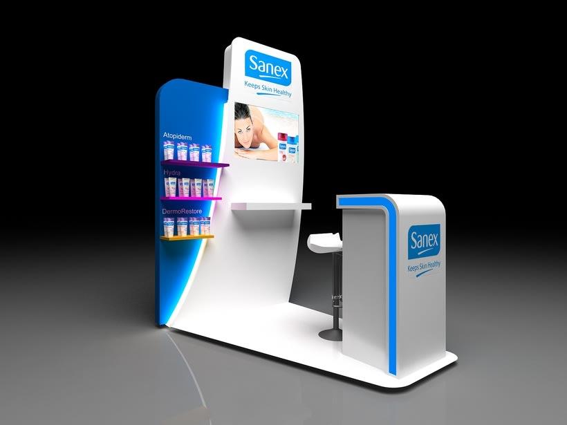 Corner Exposición de Producto. Sanex Colgate 3