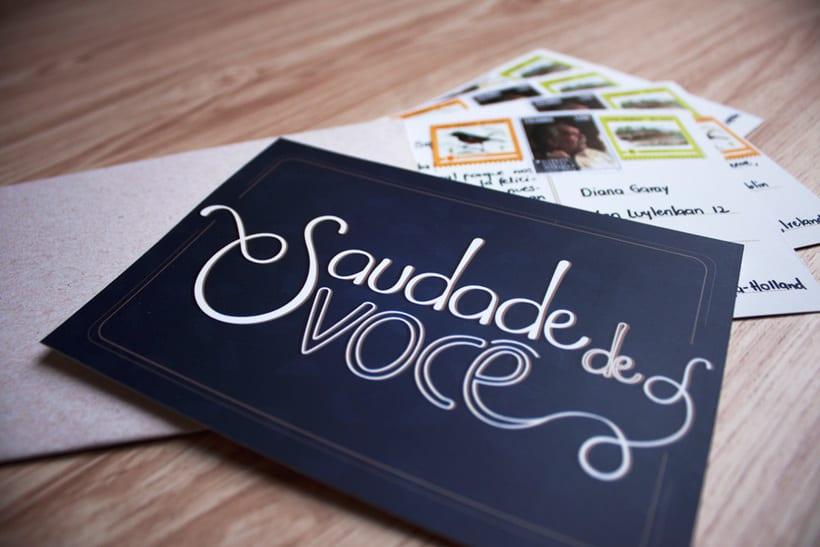 """""""Saudade de você"""" / Proyecto Los secretos dorados del lettering 2"""