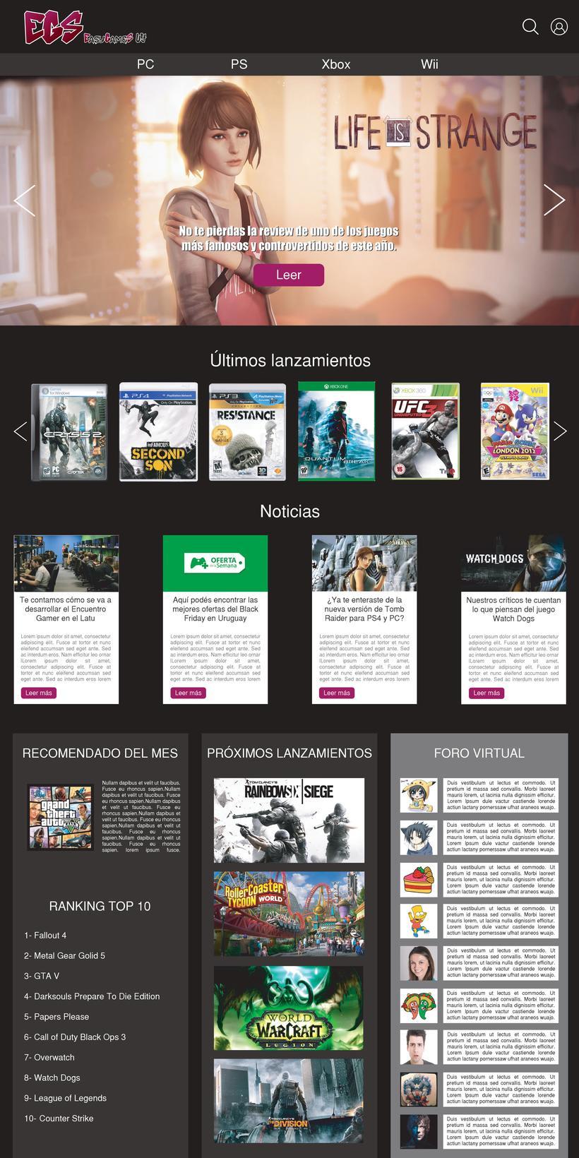 Easy Games UY - Diseño de logo y sitio web  1