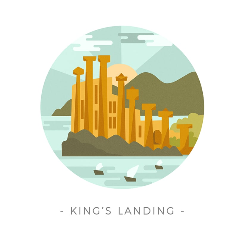 Game of Thrones landscapes - Illustrated icon set 4
