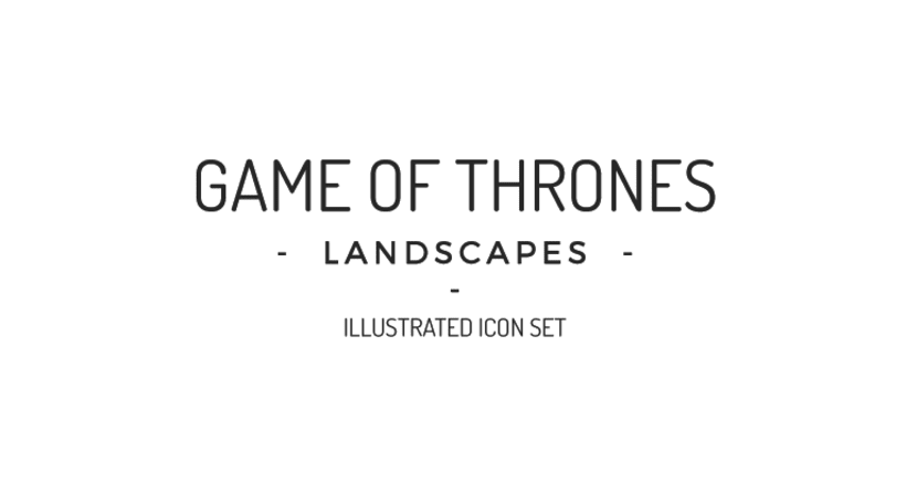 Game of Thrones landscapes - Illustrated icon set 0